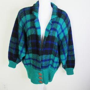 VTG I.B. Diffusion Mohair Green/Purple Sweater M